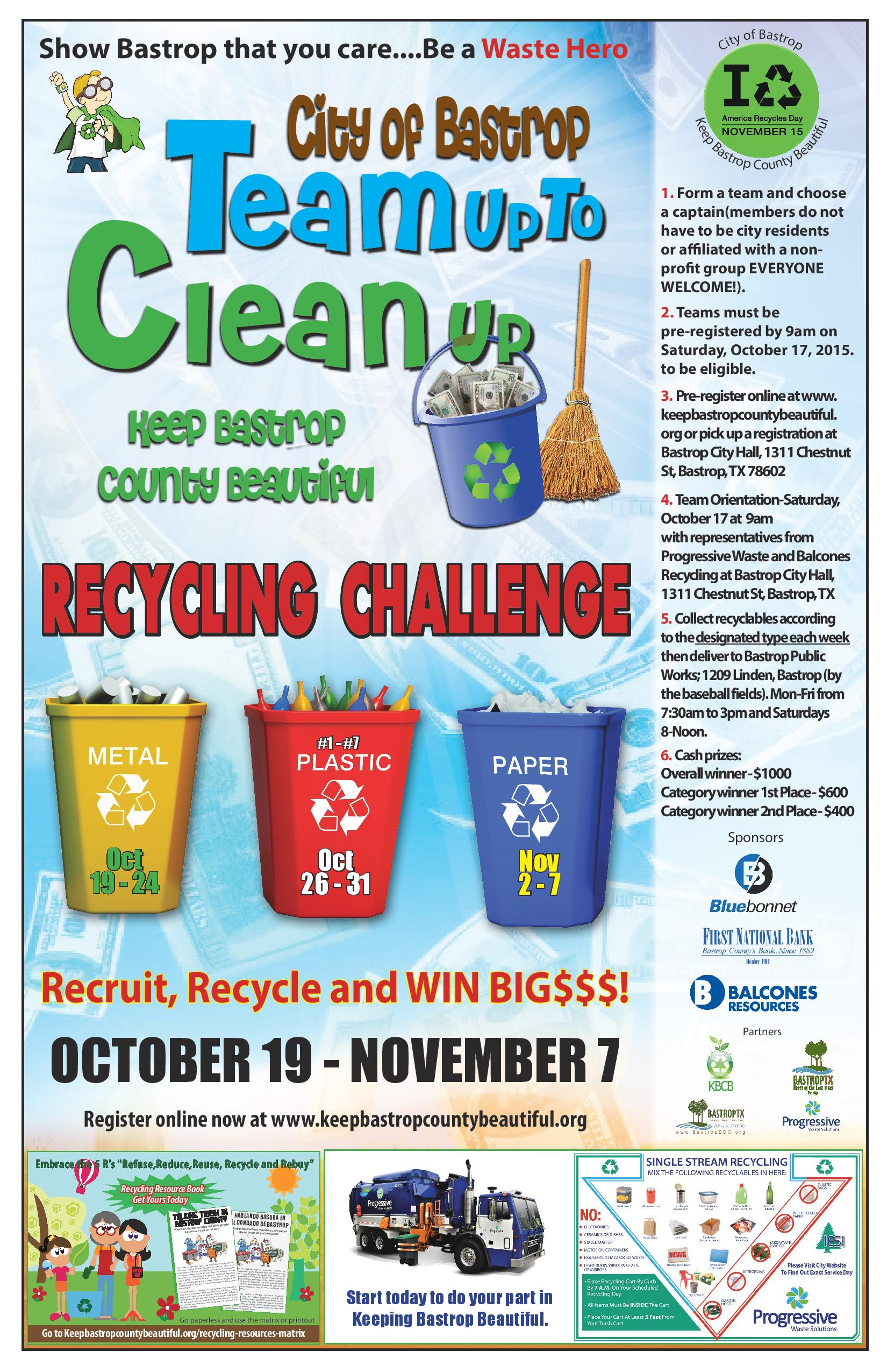 TUCU Recycling Challenge poster