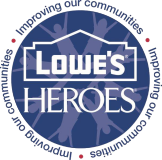 Lowe's embraces teamwork as a core value and a key ingredient in maintaining an engaged work force. We believe that by working together we can build something better — for our company, our customers and our communities. Transforming lives one community at a time — that's been the mission of Lowe's Heroes since the volunteer program began in our stores more than 10 years ago. The program encourages employees in a location to team together, adopt a volunteer project with a local nonprofit organization or K–12 public school and make a difference.