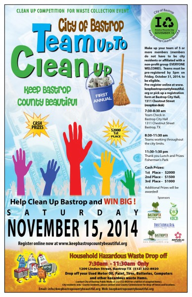 Team Up to Clean Up Poster